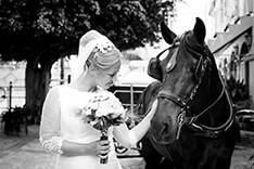 coche de caballos en boda